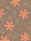 Teste padrão de flor de Boho ilustração royalty free