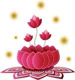 Teste padrão de flor de Lotus Fotografia de Stock Royalty Free