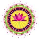 Teste padrão de flor de Lotus Imagem de Stock Royalty Free