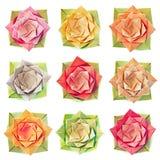 Teste padrão de flor de Origami Fotos de Stock
