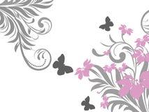 Teste padrão de flor decorativa Foto de Stock