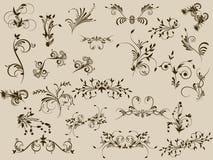 Teste padrão de flor decorativa Imagens de Stock Royalty Free