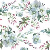 Teste padrão de flor do lírio do Wildflower em um estilo da aquarela isolado ilustração stock