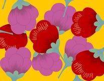 Teste padrão de flor do ventilador ilustração royalty free