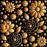 Teste padrão de flor do vetor ilustração royalty free