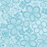 Teste padrão de flor do vetor Textura botânica sem emenda preto e branco ilustração royalty free