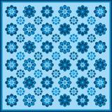 Teste padrão de flor em cores azuis Foto de Stock Royalty Free