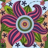 Teste padrão de flor grande colorido ilustração do vetor