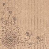 Teste padrão de flor no cartão no grunge do estilo. Foto de Stock Royalty Free