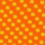 Teste padrão de flor no fundo alaranjado Imagens de Stock