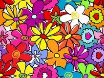 Teste padrão de flor ocupado sem emenda Imagens de Stock