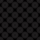 Teste padrão de flor preto abstrato excelente Imagens de Stock Royalty Free