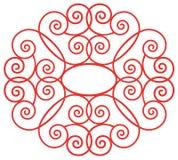 Teste padrão de flor retro ilustração stock