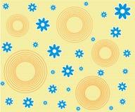 Teste padrão de flor retro Imagens de Stock Royalty Free