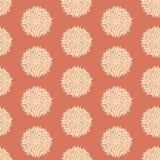 Teste padrão de flor retro sem emenda Imagens de Stock