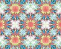 Teste padrão de flor sem emenda bonito no projeto do fractal artwork ilustração do vetor
