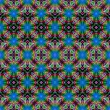 Teste padrão de flor sem emenda bonito no projeto do fractal artwork ilustração stock