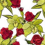 Teste padrão de flor sem emenda do vetor Fotografia de Stock Royalty Free