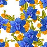 Teste padrão de flor sem emenda do vetor Imagem de Stock