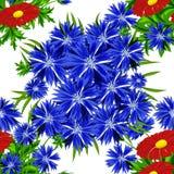 Teste padrão de flor sem emenda do vetor Foto de Stock Royalty Free