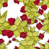 Teste padrão de flor sem emenda do vetor Imagens de Stock Royalty Free