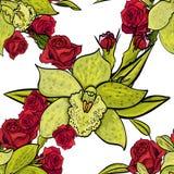 Teste padrão de flor sem emenda do vetor Fotografia de Stock