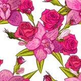 Teste padrão de flor sem emenda do vetor Imagem de Stock Royalty Free