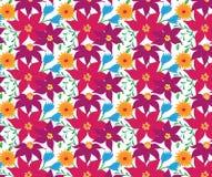 Teste padrão de flor sem emenda do vetor Fotos de Stock