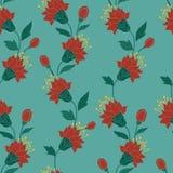 Teste padrão de flor sem emenda tirado mão do fundo do estilo Fotografia de Stock Royalty Free