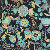 Teste padrão de flor, textura sem emenda Foto de Stock Royalty Free