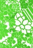 Teste padrão de flor verde. Fotos de Stock Royalty Free