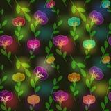 Teste padrão de flores Fotos de Stock Royalty Free