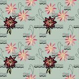 Teste padrão de flores Fotografia de Stock Royalty Free