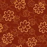 Teste padrão de flores ilustração royalty free