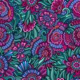 Teste padrão de flores abstrato sem emenda Ilustração Stock
