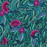 Teste padrão de flores abstrato sem emenda do vetor ilustração do vetor