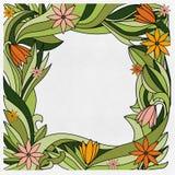 Teste padrão de flores alaranjadas Imagens de Stock