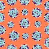 Teste padrão de flores alaranjado Ilustração Royalty Free