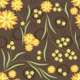 Teste padrão de flores amarelas Fotos de Stock Royalty Free