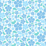 Teste padrão de flores azul sem emenda Imagem de Stock
