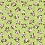 Teste padrão de flores bonito Imagens de Stock Royalty Free