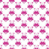 Teste padrão de flores bonito sem emenda dos desenhos animados no fundo branco Imagem de Stock Royalty Free