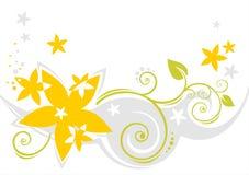 Teste padrão de flores claro ilustração royalty free
