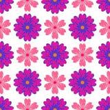 Teste padrão de flores coloridas Fotografia de Stock