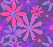 Teste padrão de flores cor-de-rosa das rosas vermelhas ilustração royalty free