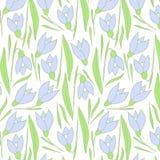 Teste padrão de flores da mola Teste padrão azul ilustração royalty free