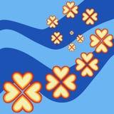 Teste padrão de flores do coração Fotografia de Stock Royalty Free