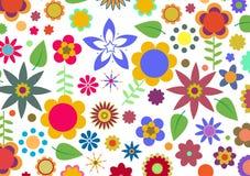 Teste padrão de flores Funky Fotografia de Stock Royalty Free
