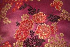 Teste padrão de flores na tela Foto de Stock Royalty Free