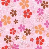 Teste padrão de flores sem emenda Imagens de Stock Royalty Free